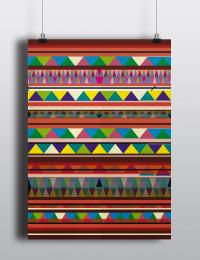 Kelim Muster Poster